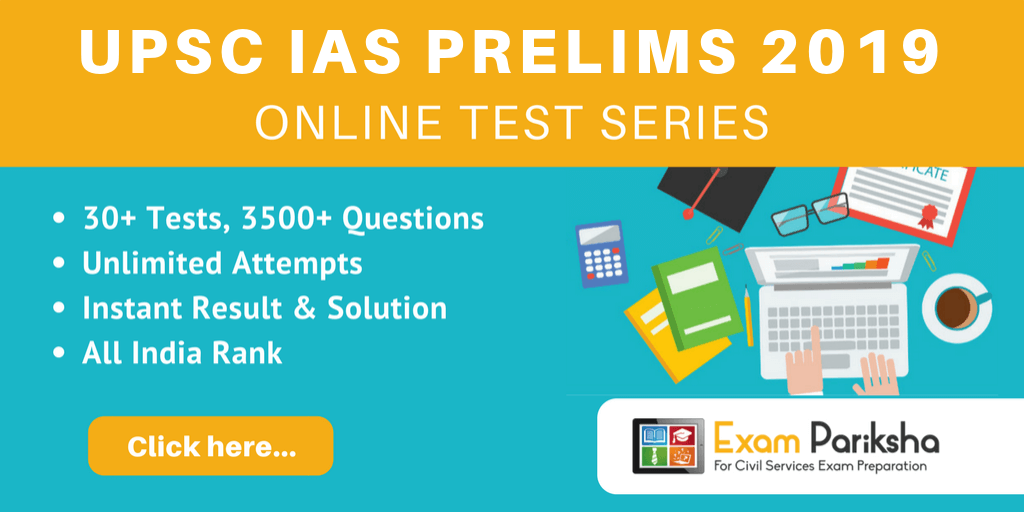Online Test Series for UPSC IAS Prelims
