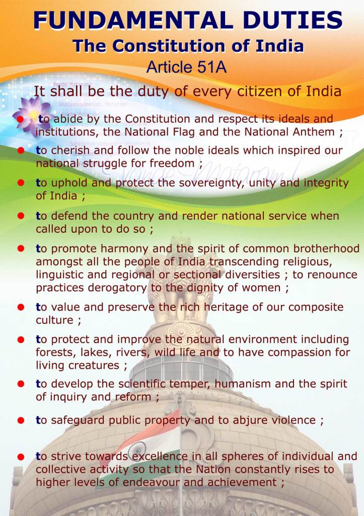 Fundamental duties of Indian Citizens