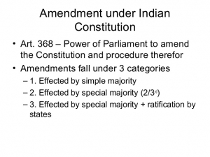 Procedure for amendment of indian constitution