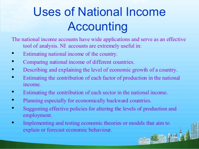 uses of national income calculation