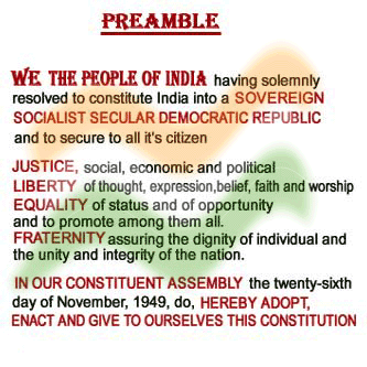 Preamble of the Constitution - Political Science Study Material ...