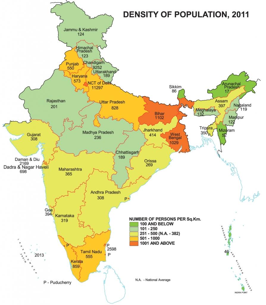 Highlights census 2011 population density
