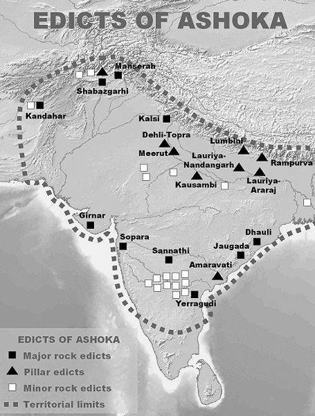 edicts of ashoka Ashoka was an ancient indian king he ruled the mauryan empire that had been greatly built upon by his grandfather, chandragupta these edicts promoted following the dharma, or buddha's teachings.