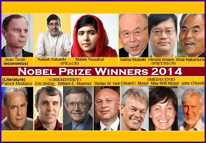 nobel prize winners 2014