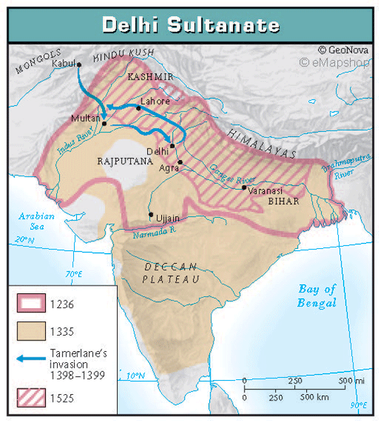delhi sultanate notes