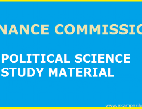 Finance Commission – Political Science Study Material & Notes