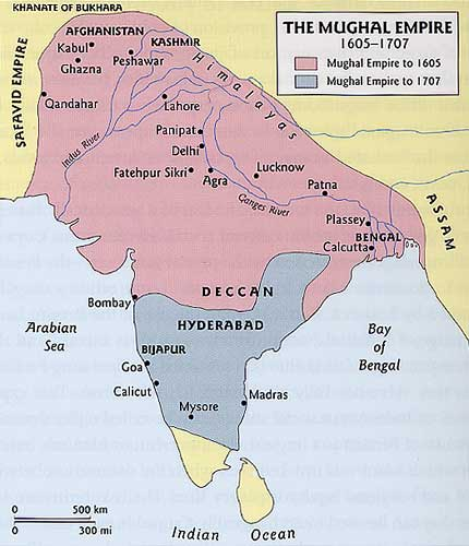 mughal empire notes Mughal empire 1526-1707 mughal conquest  the southern boundary of the mughal empire left by akbar was not advanced  notes 1 quoted in the mughul empire,.