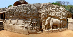 pallava dynasty descent of ganga