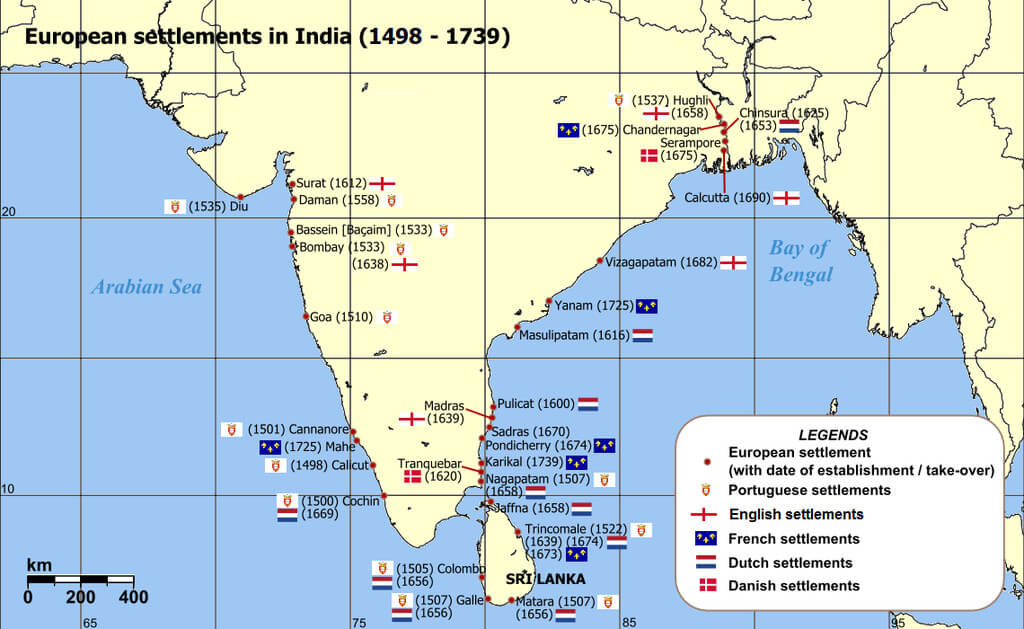 European settlements in India
