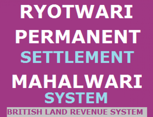 Land Revenue System of British in India – History study Material & Notes