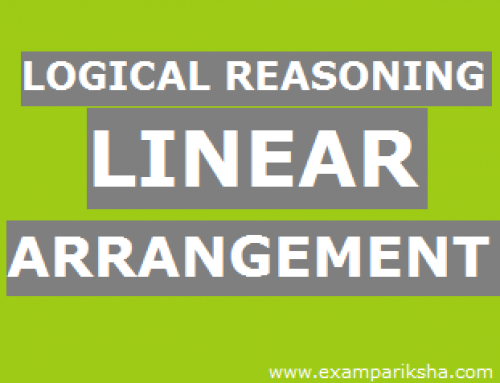 Linear Arrangement – Reasoning Study Material & Notes