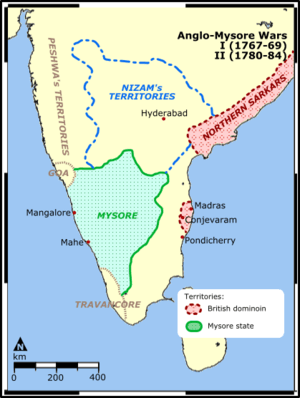 First anglo mysore wars