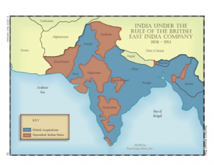 british east india company rule in india