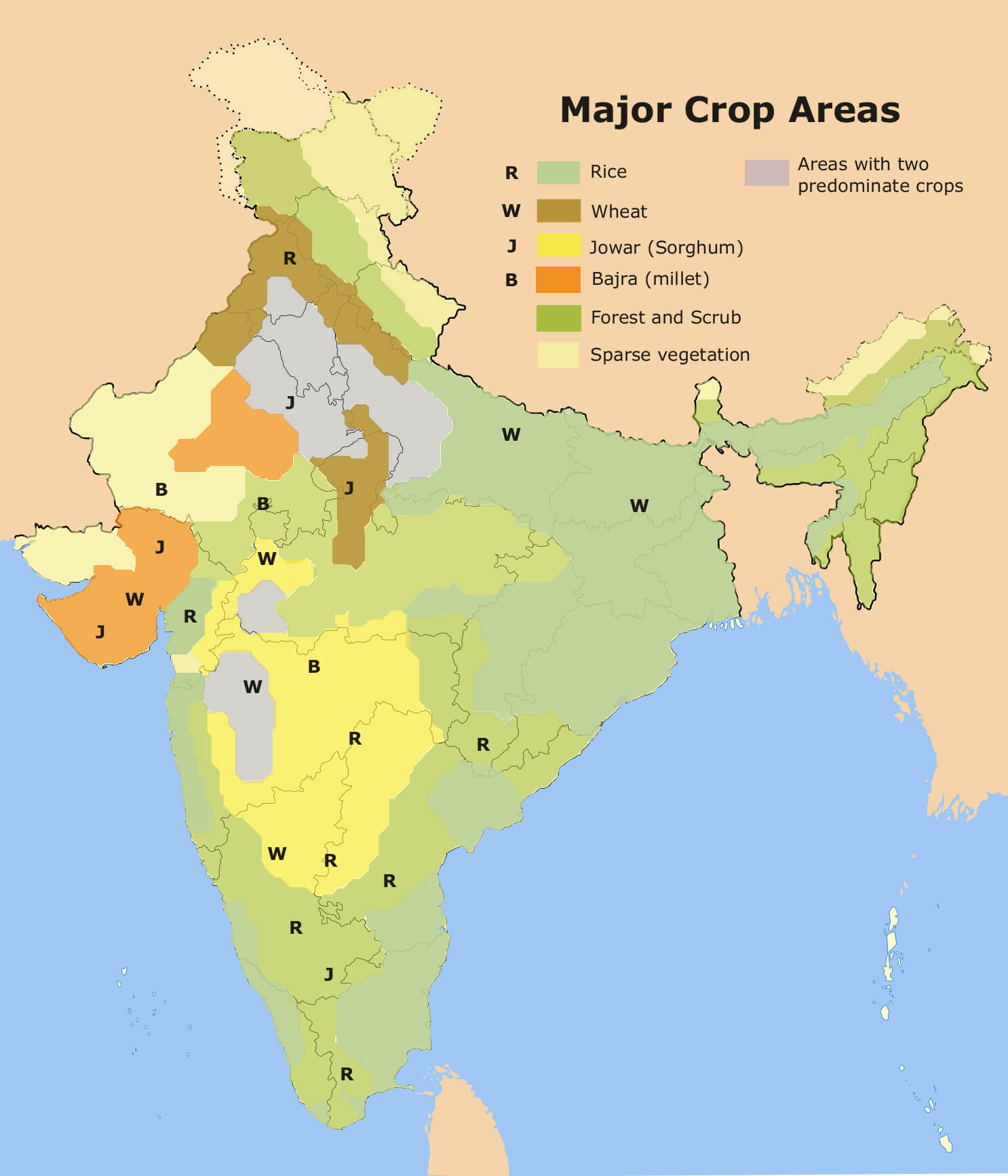 Physiography of india geography study material notes crops in india geography study material notes thecheapjerseys Image collections