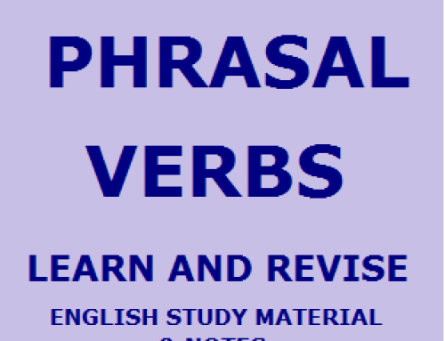 Phrasal Verbs List – English Study Material & Notes