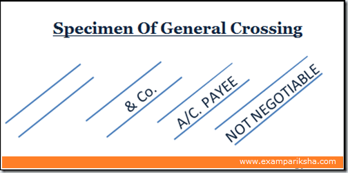 General crossing of cheque