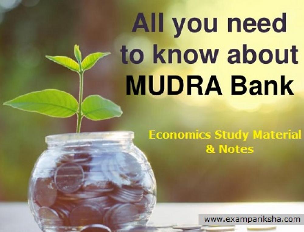 MUDRA Bank – Economics Study Material & Notes