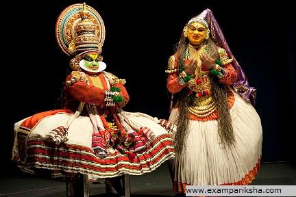 kathakali dance (duo) - Indian classical dance study material u0026amp; notes