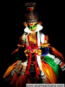 kathakali dance (pose) - Indian classical dance study material & notes