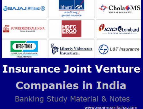 List of Joint Venture Insurance Companies in India – Banking Study Material & Notes