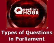 Types of Questions in Parliament - Political Science Study Material & Notes