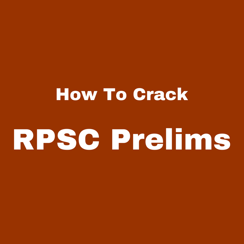 How To Crack RPSC Prelims