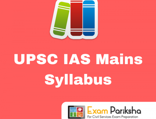 UPSC IAS Mains Civil Services Examination Syllabus : PDF Download