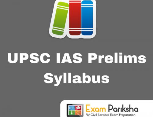 UPSC Civil Services Preliminary (CSP) Exam Syllabus : Download PDF