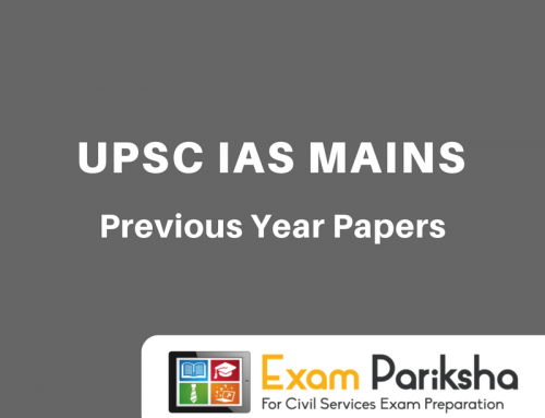 UPSC IAS Mains Previous Year Question Papers : PDF Download