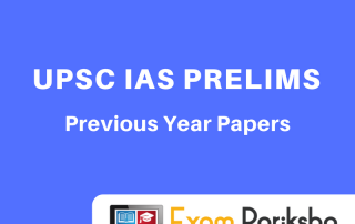 UPSC IAS Prelims Previous Year Question Papers : Download PDF