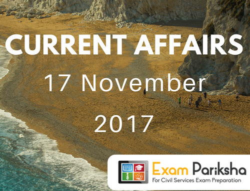 16 and 17 November 2017 Current Affairs : APCERT, National Anti-profiteering Authority, National Power Portal, SAES Summit, ISA founding ceremony